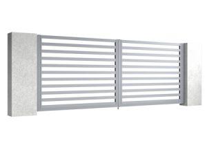 Bramy skrzydłowe z aluminium Eco
