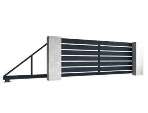 Aluminiowe bramy przesuwne Base