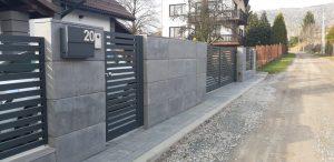 Nowoczesne ogrodzenie z aluminium
